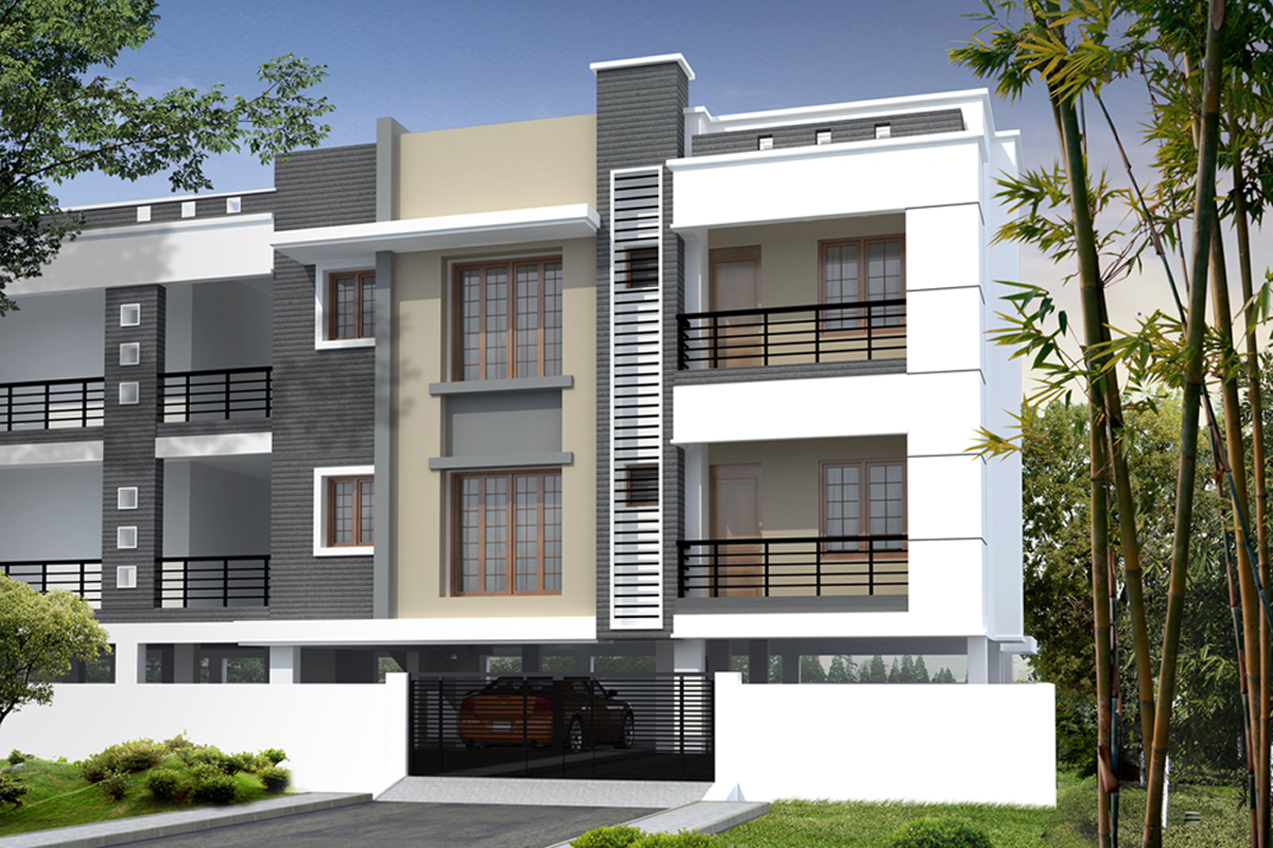Front Elevation Designs Of Apartments : Best interior design house
