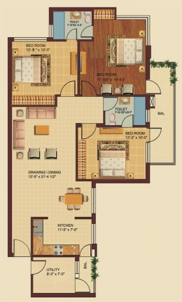 3 BHK Apartment for sale in Ludhiana