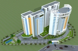 Brand new 3 BHK flat for 44.5 lakhs all inclusive !!