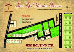 DTCP approved plots sale in  JEMI Dharsan Avenue  at Thiruvallur.