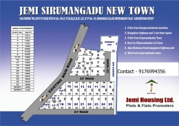 Residential plots for sale in Sirumangadu Newtown at Sriperumbudur.