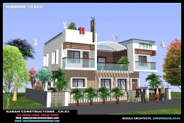 3BHk Villa with dual covered car parking in chennai